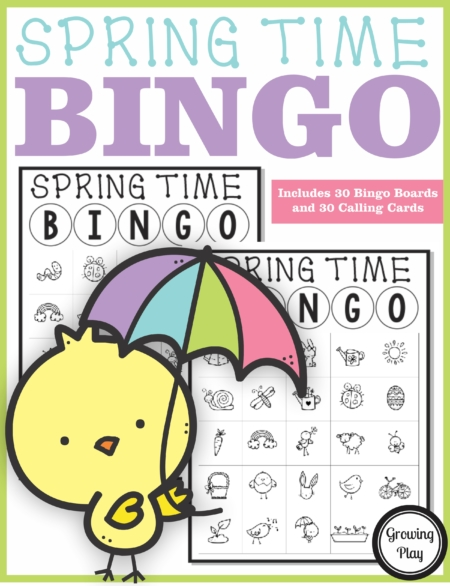 The Spring Bingo Classroom Set PDF printable game is so much fun to play to celebrate Spring time. Enjoy the whimsical illustrations of sunshine, chicks, flowers, bunnies and more!
