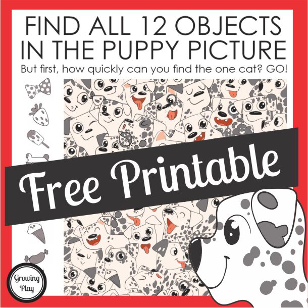 Did you know that March 23rd is National Puppy Day? Here is a fun way to celebrate this day with a free look and find puzzle you can download at the bottom of the post.