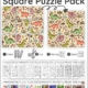TheVisual Spatial Puzzles – Square Puzzles Packincludes 11 puzzles to challenge the ability to visually perceive two or more objects in relation to each other.