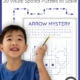 The visual spatial puzzles, Arrow Mysteries digital download, includes 20 math art puzzles to challenge visual spatial and visual motor skills.