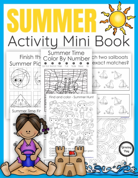 TheSummer Puzzle Book digital download includes 25 puzzles. mazes, and more all with a fun Summer theme. No prep needed