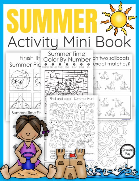 The Summer Puzzle Book digital download includes 25 puzzles. mazes, and more all with a fun Summer theme.  No prep needed