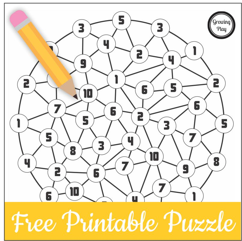 Here is a quick but tricky number puzzle free printable for kids. It is perfect for when you need an activity to challenge their brains and provide screen free fun!