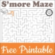 This morning I made this cute but challenging Camping Maze printable and it is free!
