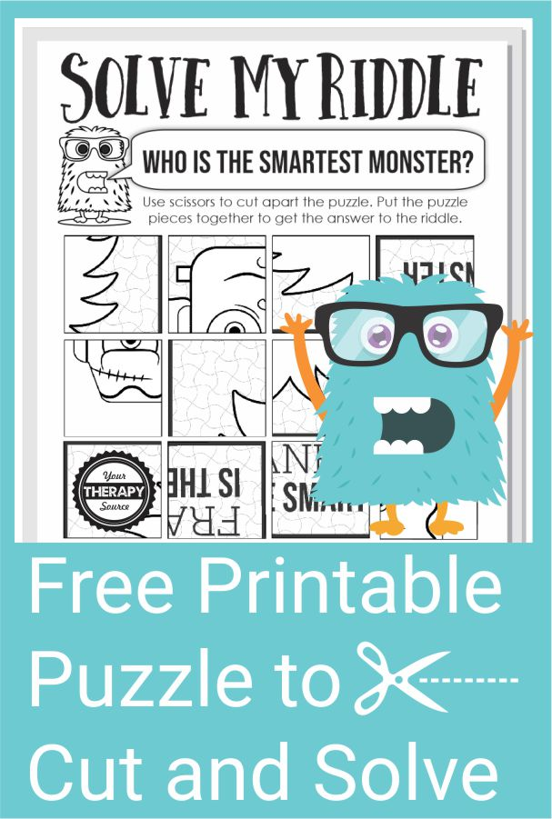 Do you like riddles or brain teasers? This fun and creative monster riddle puzzle can be download at the bottom of the post for free!