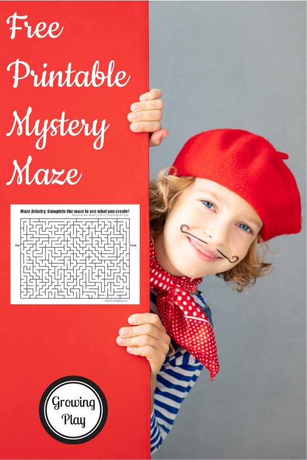 You may be wondering what the heck mystery maze artistry is? What you've never heard of it? Probably because I just made the phrase up. LOL. This FREE printable maze helps you to create a drawing when you solve the maze. So I named this maze artistry.  What do you think?  Sounds cool and creative right?