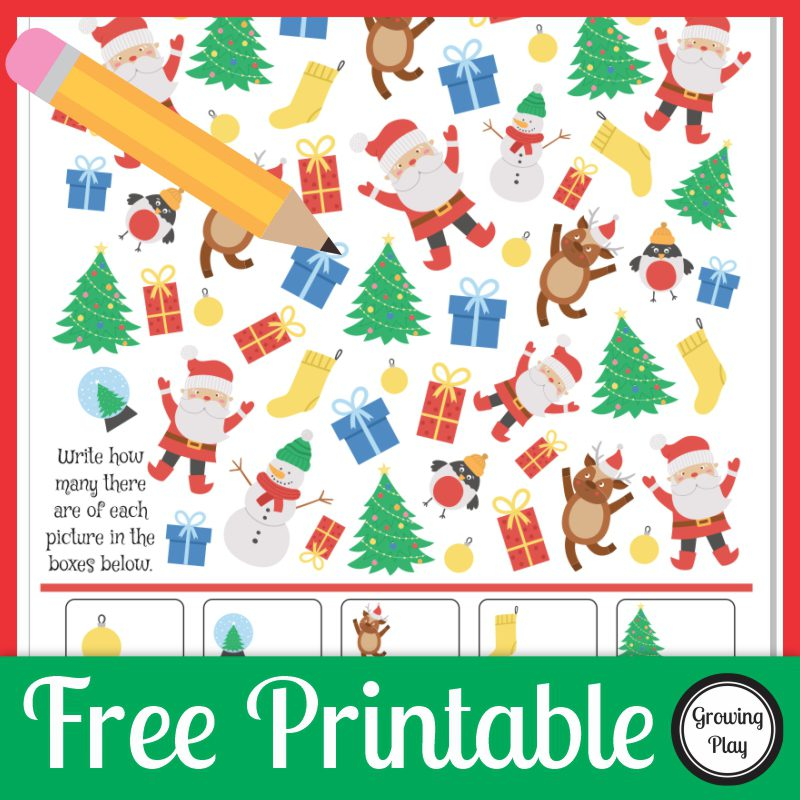 Looking for a quick, colorful, printable to entertain the kids? This I Spy Christmas puzzle is a FREE printable to challenge your children or students.