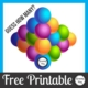 See how many people can guess how many balls are in the pyramid. You can download this freebie at the bottom of the post.