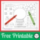 The FREE printable Christmas Puzzles are a one page black and white puzzle page can be downloaded for free at the bottom of the post.