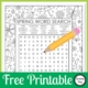 Looking for a fun Free Printable Spring Word Search with a twist to entertain the kids? Download your free copy below!