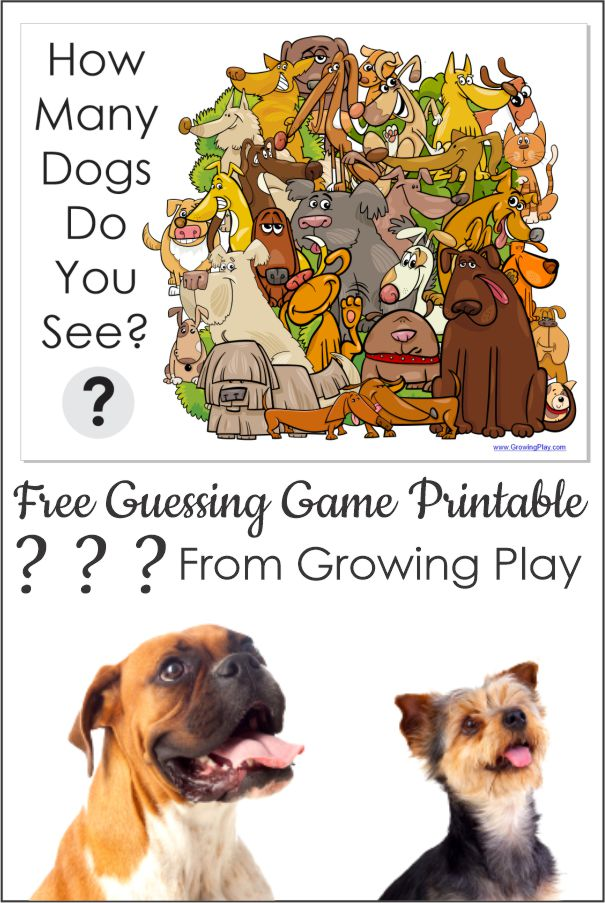 Looking for a fun FREE dog printable guessing game to entertain the kids? You can print this game or just share it on your screen.