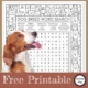 Looking for a fun FREE Dog Breeds Word Search with a twist to entertain the kids? This Dog word search combines a coloring page with a puzzle page.