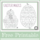 Need a nice, quiet activity for the kids? This Easter Maze PDF freebie is perfect!