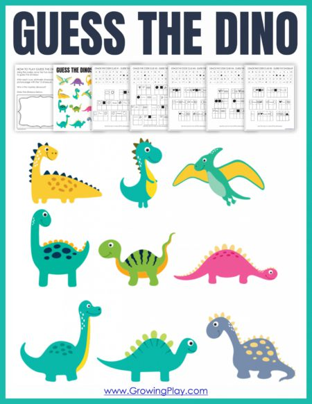 This dinosaur puzzle game will have your students deciphering the 5 clues to figure out the mystery dinosaur!