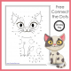 This connect the dots cat printable is so cute! This FREE dot to dot cat printable is a perfect for indoor fun.